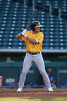 AZL Athletics Gold Shane Selman (13) at bat during an Arizona League game against the AZL Cubs 1 at Sloan Park on June 20, 2019 in Mesa, Arizona. AZL Athletics Gold defeated AZL Cubs 1 21-3. (Zachary Lucy/Four Seam Images)