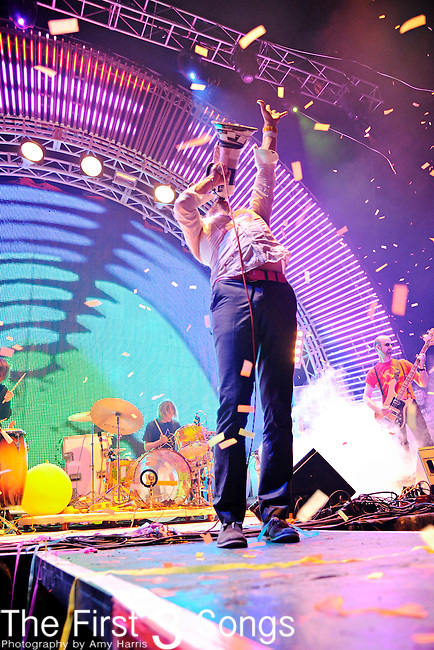Wayne Coyne of The Flaming Lips performs during the Beale Street Music Festival in Memphis, TN on April 29, 2011.