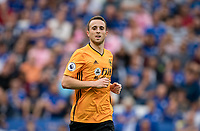 Diogo Jota of Wolves during the Premier League match between Leicester City and Wolverhampton Wanderers at the King Power Stadium, Leicester, England on 10 August 2019. Photo by Andy Rowland.