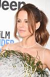 SANTA MONICA, CA - FEBRUARY 25: Actress Kate Beckinsale attends the 2017 Film Independent Spirit Awards at the Santa Monica Pier on February 25, 2017 in Santa Monica, California.