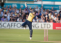 Adam Wheater of Essex CCC tries to field a high return during Essex Eagles vs Somerset, Vitality Blast T20 Cricket at The Cloudfm County Ground on 7th August 2019