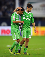 FUSSBALL   1. BUNDESLIGA  SAISON 2012/2013   7. Spieltag   FC Schalke 04 - VfL Wolfsburg        06.10.2012 Josue (li) und Diego (VfL Wolfsburg) sind nach dem Abpfiff enttaeuscht