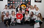 Kevin Davies and Sheffield Utd Ladies team visit Bramall Lane during the English Football League One match at Bramall Lane, Sheffield. Picture date: November 29th, 2016. Pic Jamie Tyerman/Sportimage