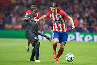 Atletico de Madrid's Filipe Luis and Chelsea's N&rsquo;Golo Kante during UEFA Champions League match between Atletico de Madrid and Chelsea at Wanda Metropolitano in Madrid, Spain September 27, 2017. (ALTERPHOTOS/Borja B.Hojas)<br /> Champions League 2017/2018 <br /> Atletico Madrid - Chelsea <br /> Foto Alterphotos / Insidefoto
