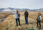 Tour guide Jim Woods educates visitors on uses of ground water in the IVGID wetlands area during the Eagles & Agriculture event on Friday, Jan. 26, 2018 in the Carson Valley.