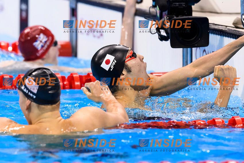 KALISZ Chase USA Silver Medal, HAGINO Kosuke JPN <br /> Gold Medal Men's 400m Individual Medley <br /> Rio de Janeiro 06-08-2016 Olympic Aquatics Stadium <br /> Swimming Nuoto <br /> Foto Andrea Staccioli/Deepbluemedia/Insidefoto