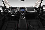 Stock photo of straight dashboard view of 2016 Ford Galaxy Titanium 5 Door Minivan Dashboard