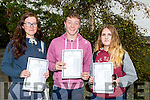 Saoirse Roche (Glenbeigh),Darragh O'Shea (Glencar) and Jackie Walpole (Muckross) who got their leaving cert results from ISK,Killorglin on Wednesday