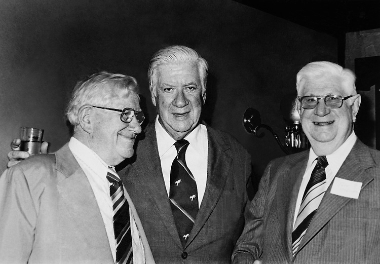 """Speaker of the House, Rep. Thomas Phillip """"Tip"""" O'Neill, House Majority Leader and Joe McQuire. (Photo by CQ Roll Call)"""