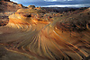 Erosion has created very unusual sandstone formations at The Second Wave at Coyote Buttes Arizona