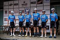 Team Veranda's Willems - Crelan at the pre race team presentation. <br /> <br /> 103th Kampioenschap van Vlaanderen 2018 (UCI 1.1)<br /> Koolskamp – Koolskamp (186km)