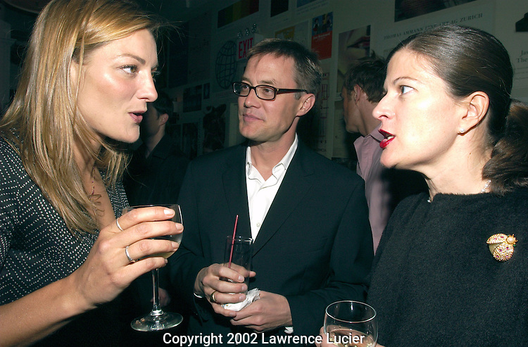 Director Lucy Walker (L), Variety Associate Publisher Mark Smelzer, and Paper Magazine Associate Publisher Sharon Phair appear at the Variety Film Fest Party May 6, 2002 in New York City.
