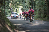 Team Lampre-Merida during the TTT recon<br /> <br /> 12th Eneco Tour 2016 (UCI World Tour)<br /> stage 5 (TTT) Sittard-Sittard (20.9km) / The Netherlands