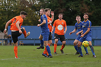 Callum Russell of Soham goes close during Romford vs Soham Town Rangers, BetVictor League North Division Football at the Brentwood Centre on 2nd November 2019