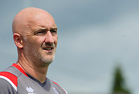 Lincoln City's first team goalkeeping coach Andy Warrington<br /> <br /> Photographer Chris Vaughan/CameraSport<br /> <br /> Football Pre-Season Friendly (Community Festival of Lincolnshire) - Gainsborough Trinity v Lincoln City - Saturday 6th July 2019 - The Martin & Co Arena - Gainsborough<br /> <br /> World Copyright © 2018 CameraSport. All rights reserved. 43 Linden Ave. Countesthorpe. Leicester. England. LE8 5PG - Tel: +44 (0) 116 277 4147 - admin@camerasport.com - www.camerasport.com