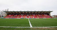 A general view of Sincil Bank, home of Lincoln City FC<br /> <br /> Photographer Chris Vaughan/CameraSport<br /> <br /> The EFL Sky Bet League Two - Lincoln City v Grimsby Town - Saturday 19 January 2019 - Sincil Bank - Lincoln<br /> <br /> World Copyright &copy; 2019 CameraSport. All rights reserved. 43 Linden Ave. Countesthorpe. Leicester. England. LE8 5PG - Tel: +44 (0) 116 277 4147 - admin@camerasport.com - www.camerasport.com