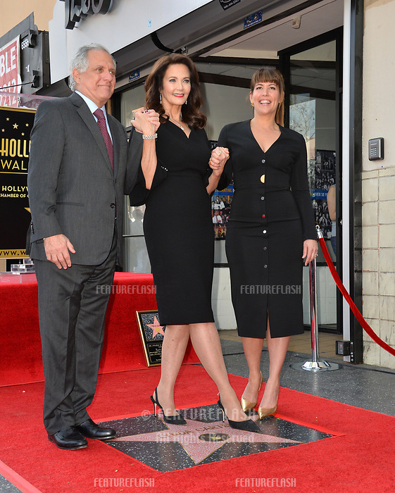Les Moonves, Lynda Carter &amp; Patty Jenkins at the Hollywood Walk of Fame Star Ceremony honoring TV's &quot;Wonder Woman&quot; star Lynda Carter on Hollywood Boulevard, Los Angeles, USA 03 April 2018<br /> Picture: Paul Smith/Featureflash/SilverHub 0208 004 5359 sales@silverhubmedia.com