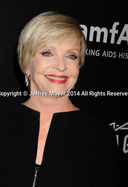 HOLLYWOOD, CA- OCTOBER 29: Actress Florence Henderson attends amfAR LA Inspiration Gala honoring Tom Ford at Milk Studios on October 29, 2014 in Hollywood, California.