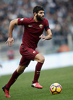 Calcio, Serie A: Lazio vs Roma. Roma, stadio Olimpico, 4 dicembre 2016.<br /> Roma&rsquo;s Federico Fazio in action during the Italian Serie A football match between Lazio and Rome at Rome's Olympic stadium, 4 December 2016. Roma won 2-0.<br /> UPDATE IMAGES PRESS/Isabella Bonotto