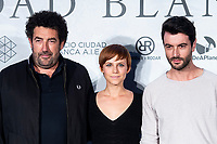 Director Daniel Calparsoro, actress Aura Garrido and actor Javier Rey attends presentation of 'El silencio de la Ciudad Blanca' during FestVal in Vitoria, Spain. September 05, 2018. (ALTERPHOTOS/Borja B.Hojas) /NortePhoto.com NORTEPHOTOMEXICO
