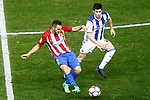 Atletico de Madrid's Koke Resurrecccion (l) and Real Sociedad's Igor Zubeldia during La Liga match. April 4,2017. (ALTERPHOTOS/Acero)