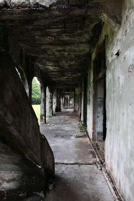 The ghostly ruins of Topside Barracks stand as an enduring reminder of the heavy fighting that took place on Corregidor island, the Philippines during World War II. June 26, 2011.