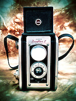 Studio shot of a classic vintage twin lens Kodak film camera, iPhone photo from the archive at bcpix.com. (Photo by Brian Cleary/www.bcpix.com)