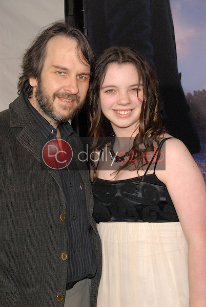 """Peter Jackson and daughter<br /> at the Los Angeles Premiere of """"The Lovely Bones,"""" Chinese Theater, Hollywood, CA. 12-07-09<br /> David Edwards/Dailyceleb.com 818-249-4998"""