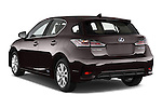 Car pictures of rear three quarter view of a 2015 Lexus CT Executive 5 Door Hatchback 2WD Angular Rear