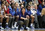 21 December 2007: Duke head coach Joanne P. McCallie. The Duke University Blue Devils defeated the Bucknell University Bisons 92-49 at Cameron Indoor Stadium in Durham, North Carolina in an NCAA Division I Women's College Basketball game.