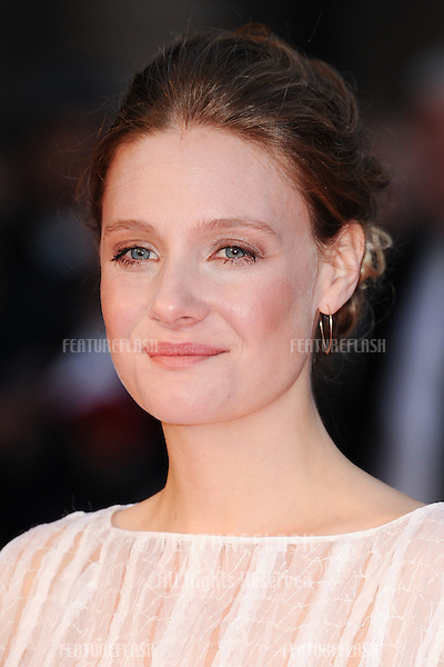 Romola Garai at the BFI London Film Festival premiere of &quot;Suffragette&quot; at the Odeon Leicester Square, London.<br /> October 7, 2015  London, UK<br /> Picture: Steve Vas / Featureflash
