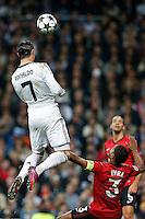 Real Madrid's Cristiano Ronaldo (l) and Manchester United's Patrice Evra during Champions League 2012/2013 match.February 12,2013. (ALTERPHOTOS/Alfaqui/Cesar Cebolla) /NortePhoto