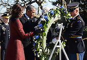 United States President Barack Obama and First Lady Michelle Obama lay a wreath at the gravesite for President John F. Kennedy at Arlington National Cemetery in Arlington, Virginia, November 20, 2013. This Friday will mark the 50th anniversary of the assassination of President Kennedy on November 22, 1963. <br /> Credit: Pat Benic / Pool via CNP