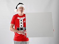 Pictured: Sam Clucas<br /> Swansea City FC and Ospreys RFC Christmas photo shoot at the Fairwood Trainining Ground, near Swansea, Wales, UK. 17 October 2017
