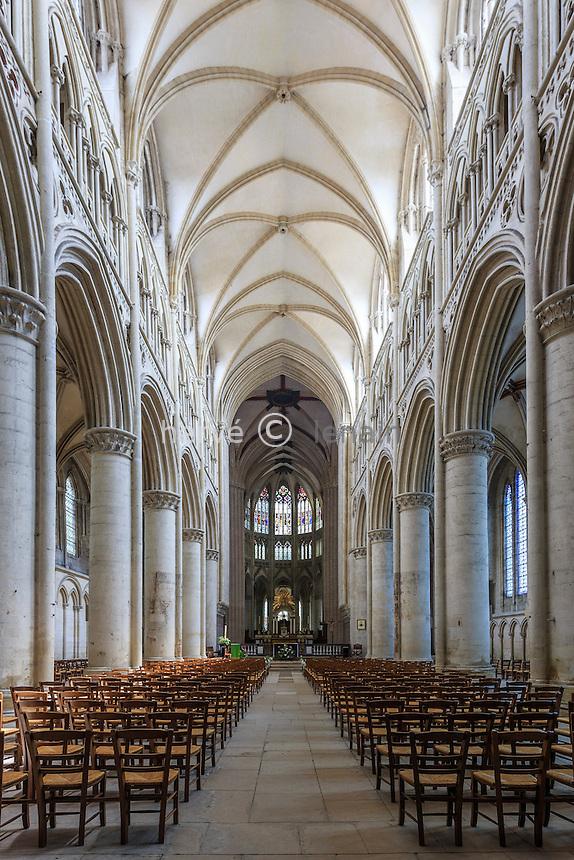 France, Orne (61), Sées, la cathédrale Notre-Dame, la nef // France, Orne, Sees, Notre Dame Cathedral, the nave