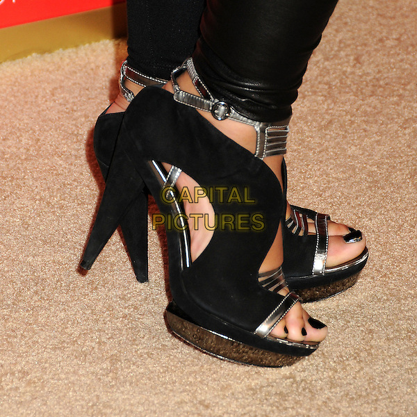 MYA's shoes (Mýa Marie Harrison).US Weekly's Hot Hollywood Party 2009 held at Voyeur, West Hollywood, California, USA..November 18th, 2009.feet heels silver platform nail varnish polish open toe shoes.CAP/ADM/BP.©Byron Purvis/AdMedia/Capital Pictures.