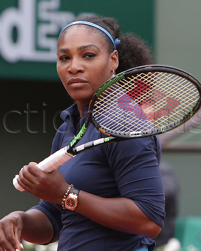 01.06.2016. Roland Garros, Paris, France, French Open tennis championships, day 11.  Serena Williams beats Svitolina in the final 8 game by 6-1 and 6-1