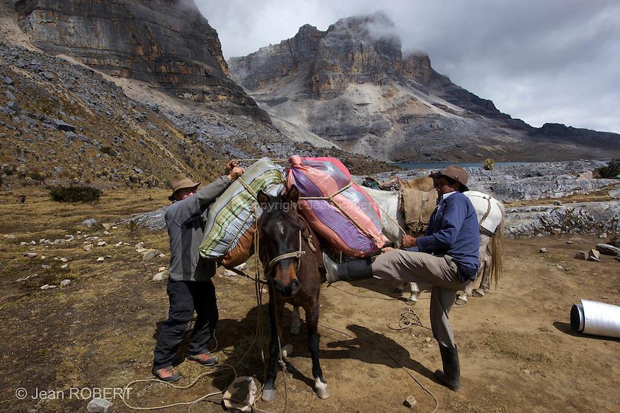 campement à Laguna de la plaza (4200 m).Sierra del Cocuy