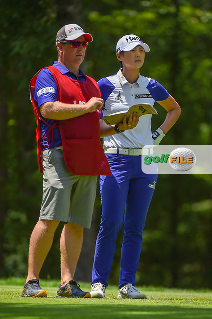 Sung Hyun Park (KOR) looks over her tee shot on 2 during round 1 of the U.S. Women's Open Championship, Shoal Creek Country Club, at Birmingham, Alabama, USA. 5/31/2018.<br /> Picture: Golffile | Ken Murray<br /> <br /> All photo usage must carry mandatory copyright credit (© Golffile | Ken Murray)