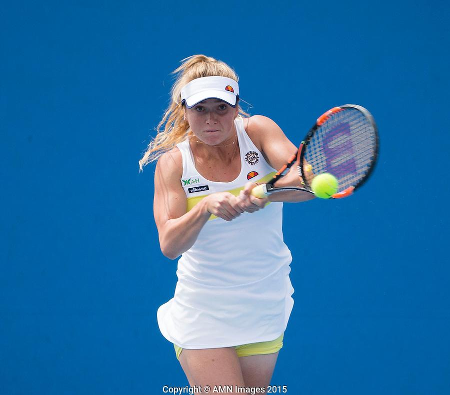 ELINA SVITOLINA (UKR)<br /> <br /> Tennis - Australian Open 2015 - Grand Slam -  Melbourne Park - Melbourne - Victoria - Australia  - 20 January 2015. <br /> &copy; AMN IMAGES