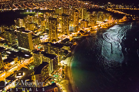 Aerial view of Honolulu, Oahu, Hawaii