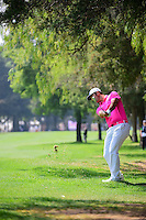 Jon Rahm (ESP) hits his approach shot on 5 during round 3 of the World Golf Championships, Mexico, Club De Golf Chapultepec, Mexico City, Mexico. 3/4/2017.<br /> Picture: Golffile | Ken Murray<br /> <br /> <br /> All photo usage must carry mandatory copyright credit (&copy; Golffile | Ken Murray)