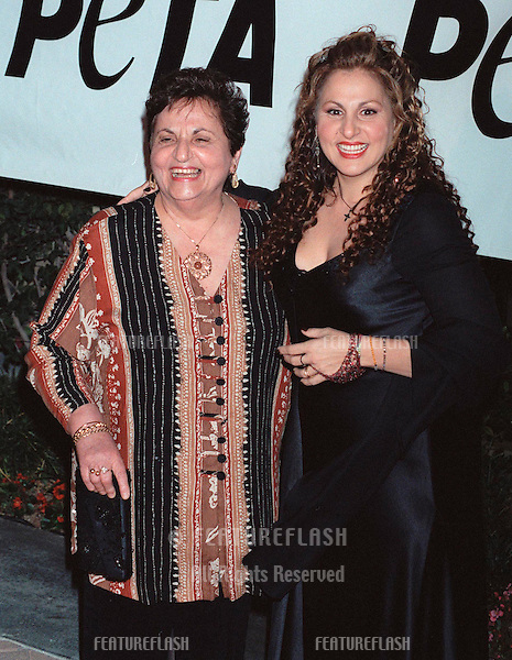 18SEP99: Actress KATHY NAJIMY & mother at PETA's Party of the Century, in Los Angeles.     .© Paul Smith / Featureflash