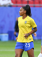 20190618 - VALENCIENNES , FRANCE : Brazilian Geyse pictured during the female soccer game between Italy  and Brazil  , the third game for both teams in group C during the FIFA Women's  World Championship in France 2019, Tuesday 18 th June 2019 at the Stade du Hainaut Stadium in Valenciennes , France .  PHOTO SPORTPIX.BE | DIRK VUYLSTEKE