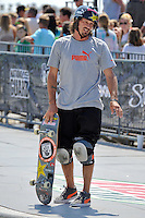 16 August, 2012:  Bucky Lasek waits to begin his heat at the Skateboard Bowl Semi-final at the Pantech Beach Championships in Ocean City, MD
