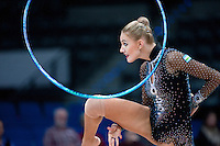 September 7, 2015 - Stuttgart, Germany -  ELIZAVETA NAZARENKOVA  of Uzbekistan performs during AA final at 2015 World Championships.