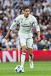 Raphael Varane of Real Madrid  during the match of Champions League between Real Madrid and Atletico de Madrid at Santiago Bernabeu Stadium  in Madrid, Spain. May 02, 2017. (ALTERPHOTOS/Rodrigo Jimenez)