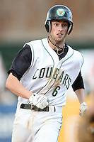 June 8, 2009: Jason Christian (6) of the Kane County Cougars at Elfstrom Stadium in Geneva, IL..  Photo by: Chris Proctor/Four Seam Images