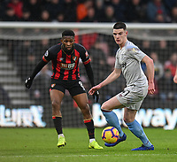 West Ham United's Declan Rice (right) <br /> <br /> Photographer David Horton/CameraSport<br /> <br /> The Premier League - Bournemouth v West Ham United - Saturday 19 January 2019 - Vitality Stadium - Bournemouth<br /> <br /> World Copyright © 2019 CameraSport. All rights reserved. 43 Linden Ave. Countesthorpe. Leicester. England. LE8 5PG - Tel: +44 (0) 116 277 4147 - admin@camerasport.com - www.camerasport.com