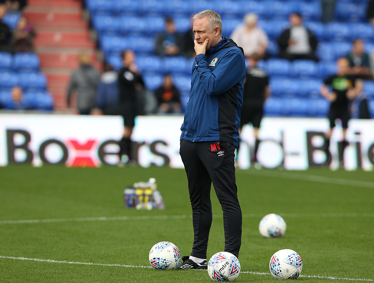 Blackburn Rovers' Assistant Manager Mark Venus during the pre-match warm-up <br /> <br /> Photographer Stephen White/CameraSport<br /> <br /> The EFL Sky Bet League One - Oldham Athletic v Blackburn Rovers - Saturday 14th October 2017 - Boundary Park - Oldham<br /> <br /> World Copyright &copy; 2017 CameraSport. All rights reserved. 43 Linden Ave. Countesthorpe. Leicester. England. LE8 5PG - Tel: +44 (0) 116 277 4147 - admin@camerasport.com - www.camerasport.com